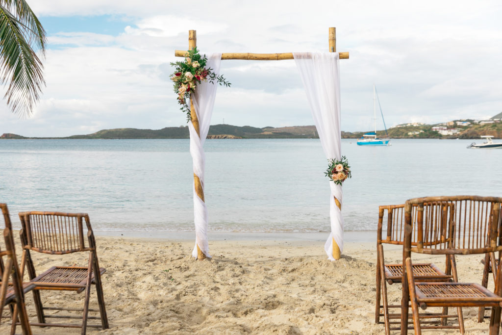 Secret Harbour wedding in St Thomas Arch
