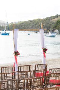 St. Thomas Wedding tropical arch at Secret Harbour