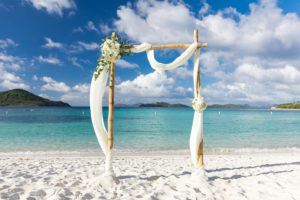Lindquist Beach Wedding Arch