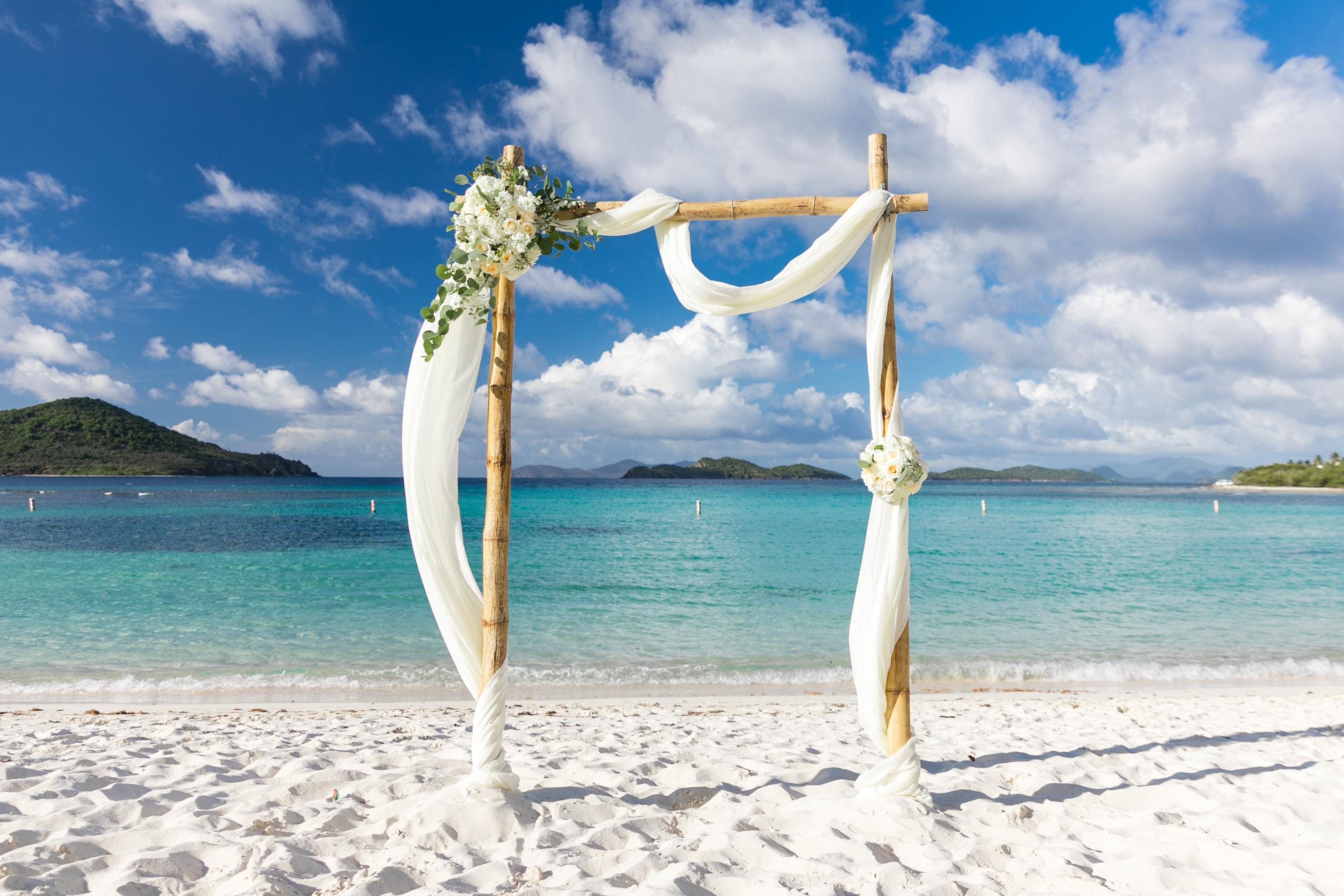 Beach Wedding Arch Wedding Photography