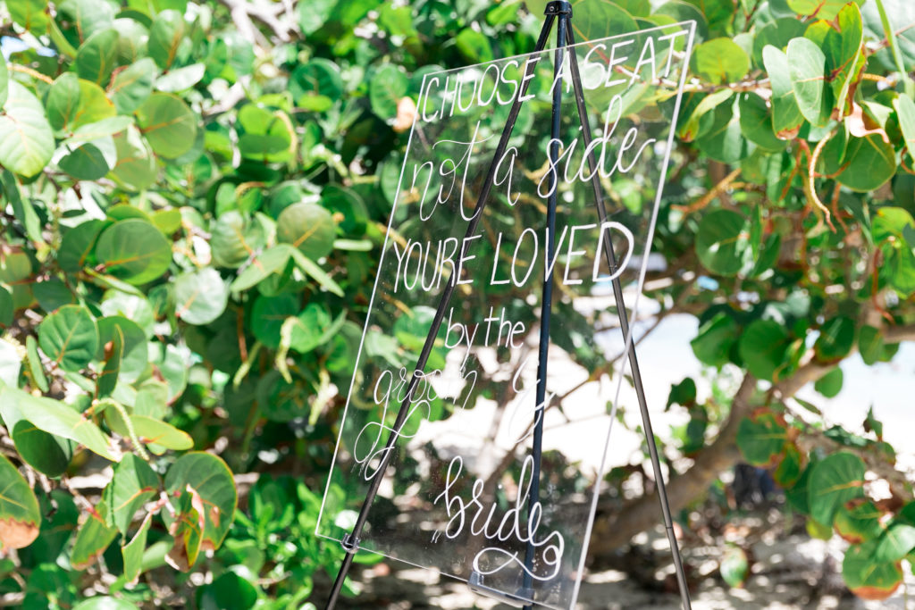 Lindquist Beach Wedding Acrylic Welcome Sign
