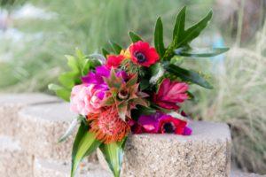 Tropical Bridal Bouquet for Destination Beach Wedding