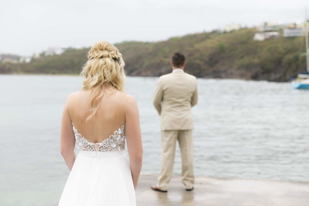 Secret Harbour Beach Wedding First Look