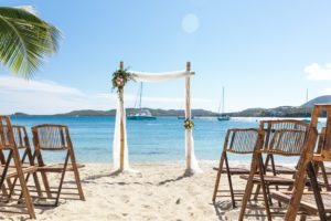 St. Thomas island wedding Ceremony decor