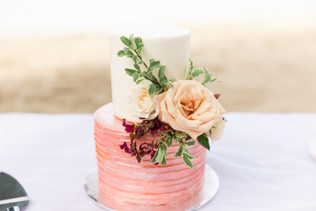 Secret Harbour wedding in St Thomas Wedding Cake