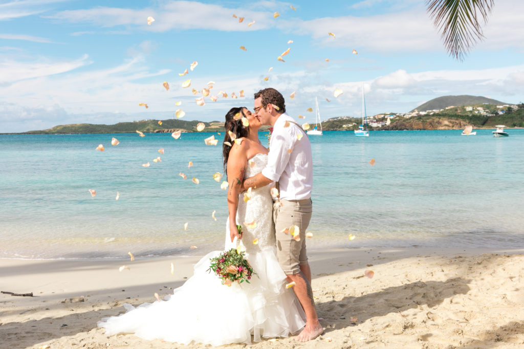 Secret Harbour wedding in St Thomas