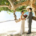 Destination Beach wedding at Sea Grape tree in St. Thomas
