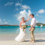 Simple St Thomas Wedding Bride and Groom Dancing