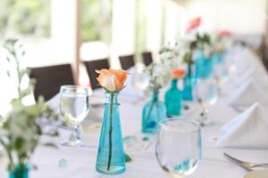 perfect centerpieces for a wedding in st thomas