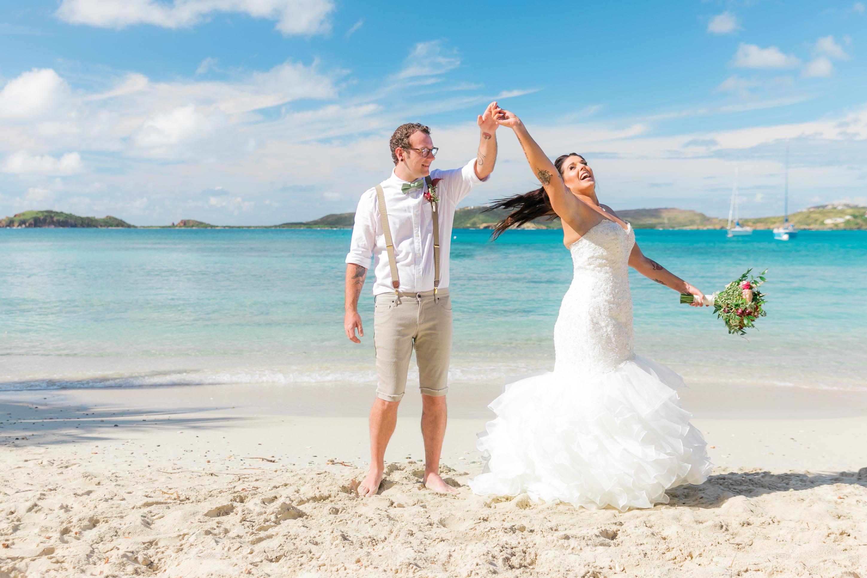 Another Secret Harbour Wedding in St Thomas - Irie Matrimony