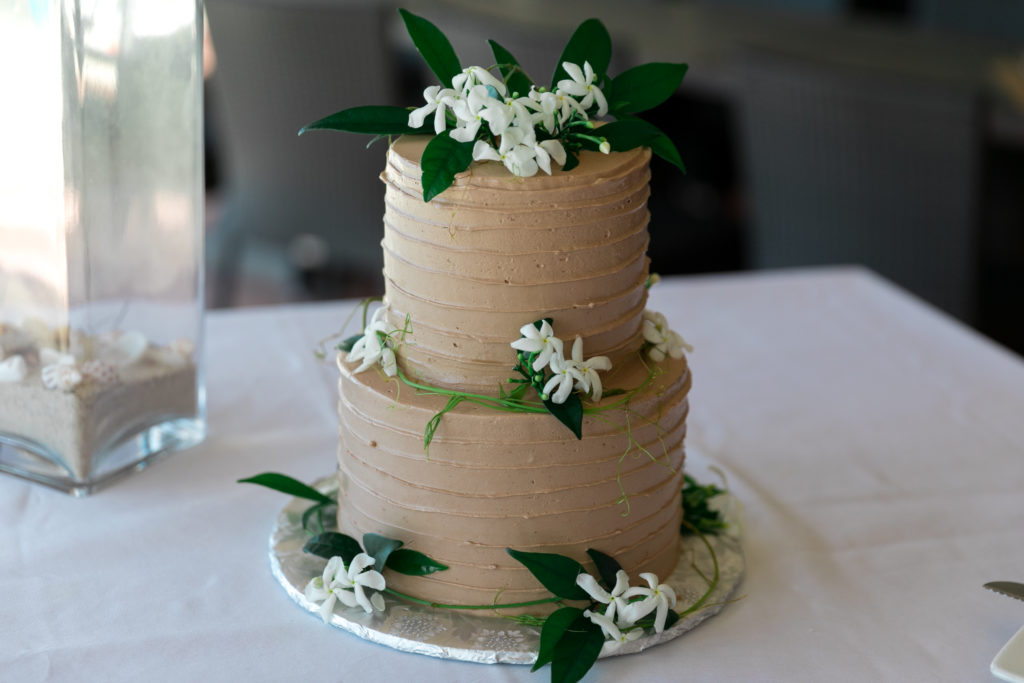 Simple St Thomas Wedding Cake