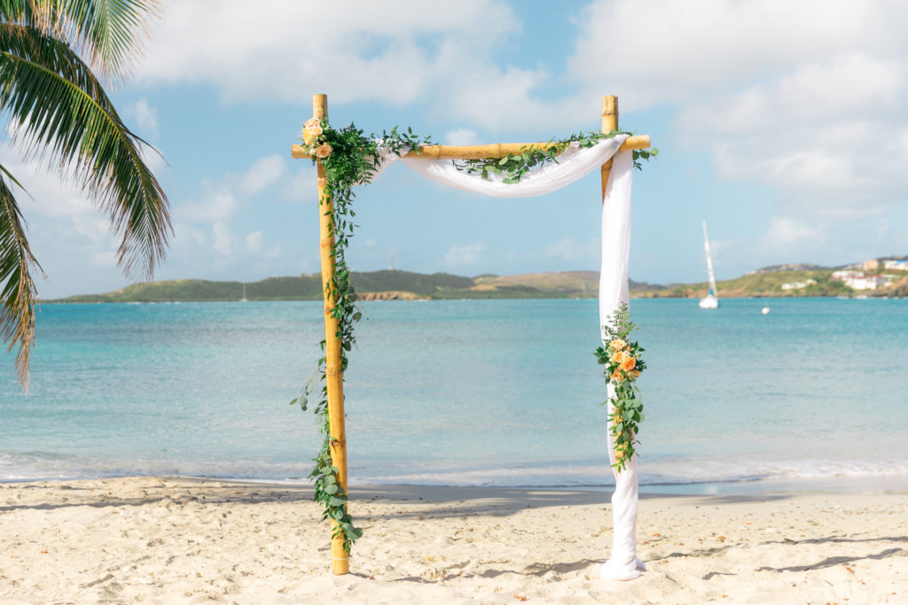 Simple St Thomas wedding Arch