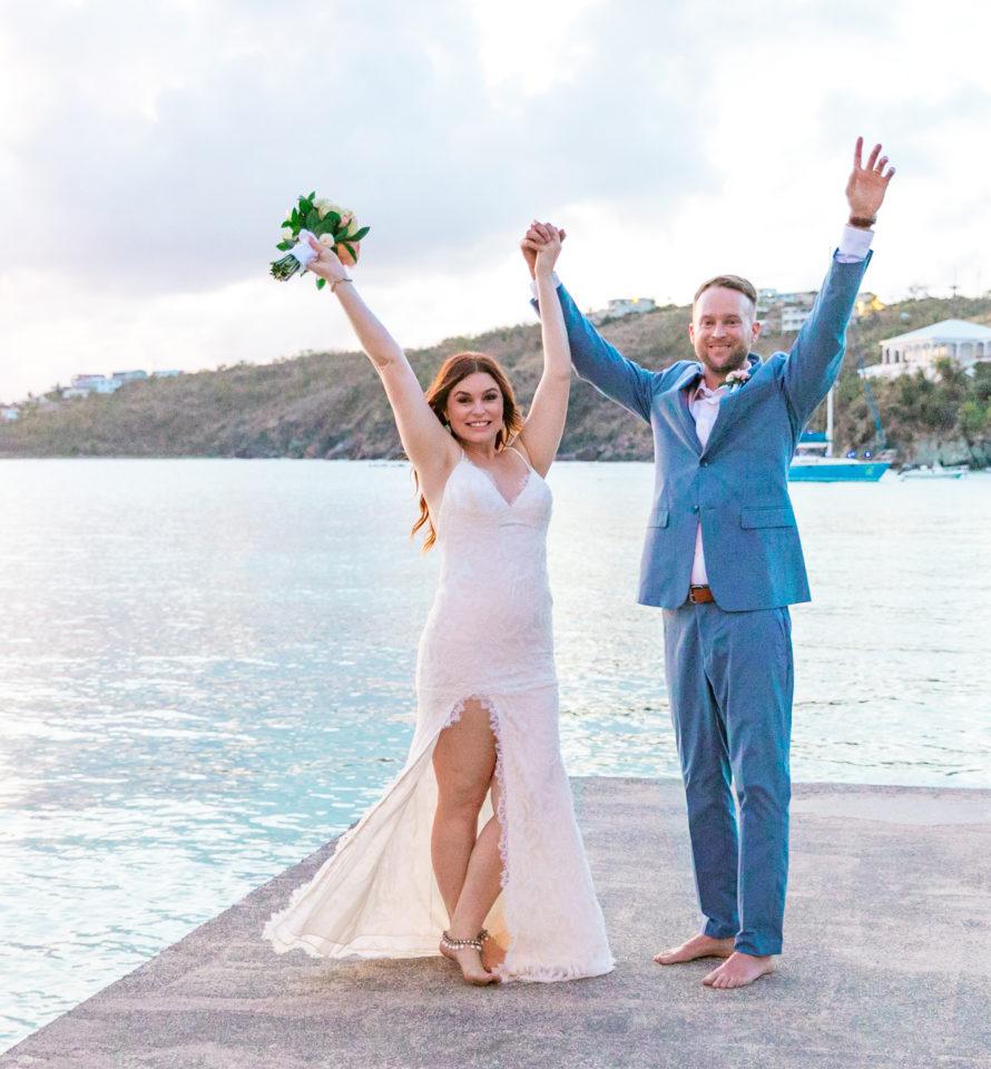 Boho Bride celebrating Secret Harbour Dock