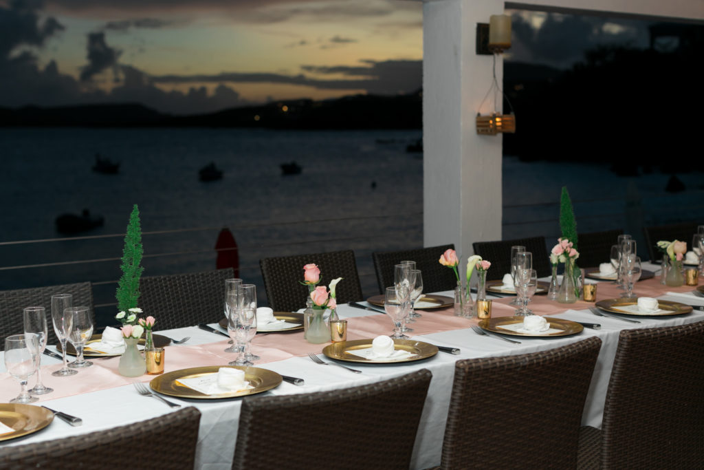 Boho Bride at Secret Harbour reception setup