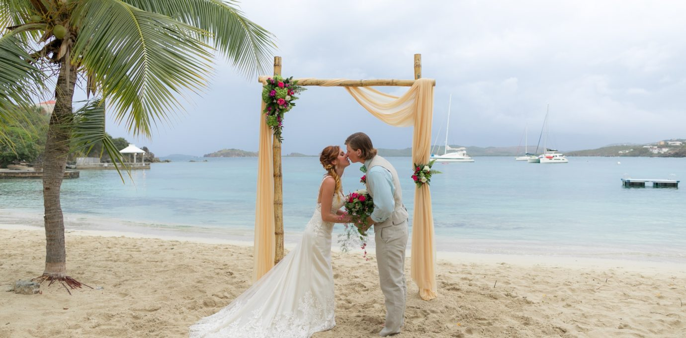 St. Thomas Destination Wedding Arch