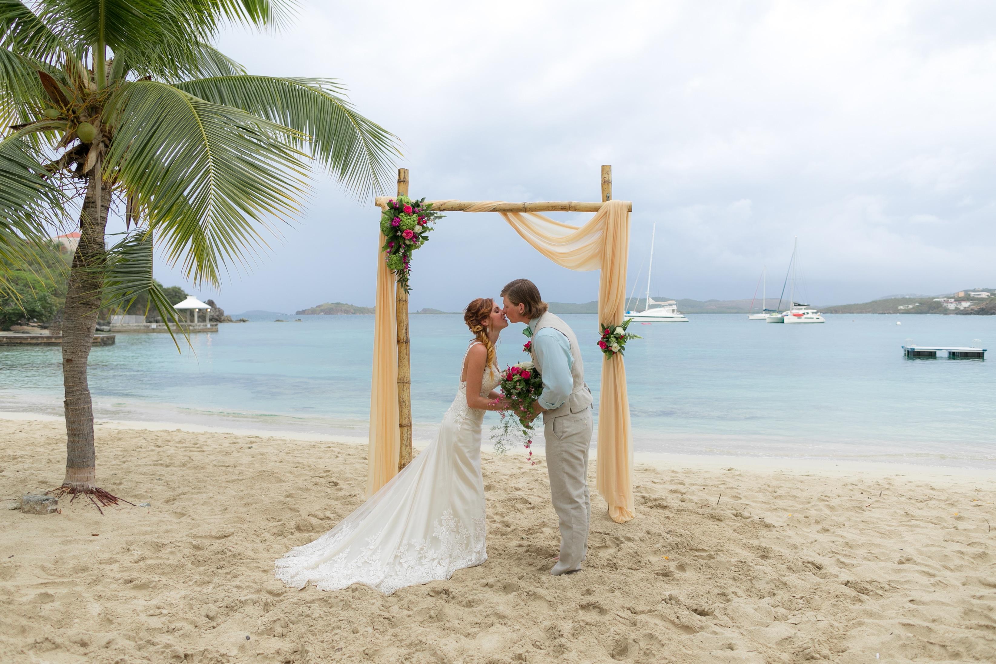 Destination Wedding At Secret Harbour St Thomas Weddings