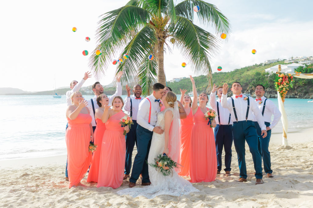 post storm st thomas wedding beach balls