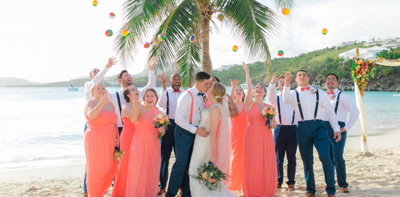 post storm st thomas wedding beach balls