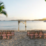 Secret harbour Sunset Wedding setup