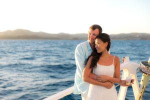 Destination Wedding in St. Thomas on a boat