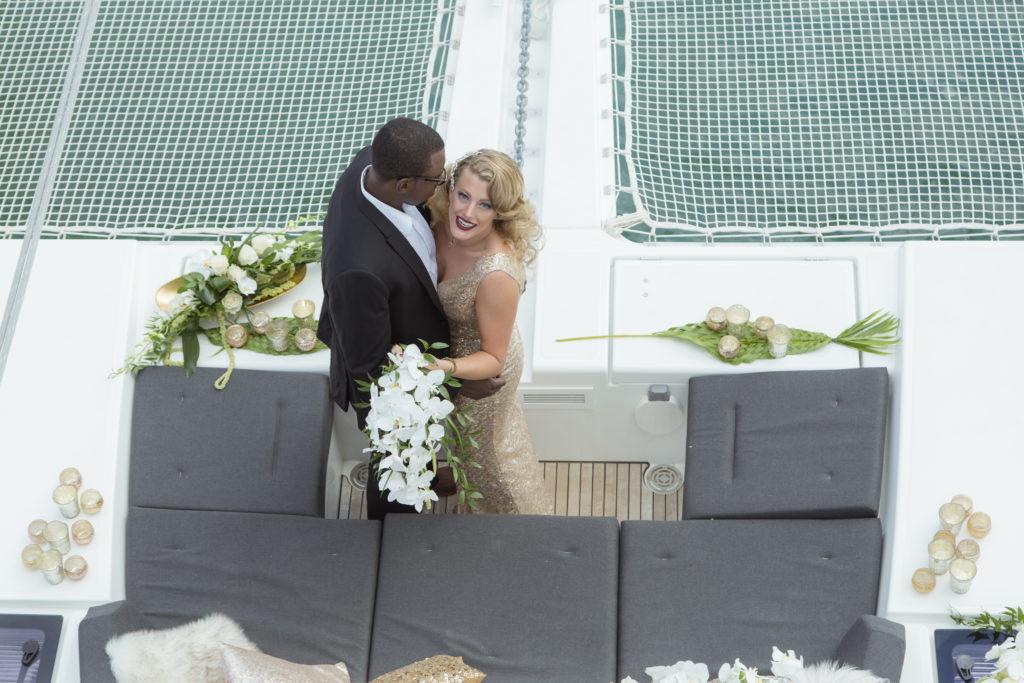 St Thomas Styled Shoot Boat Wedding