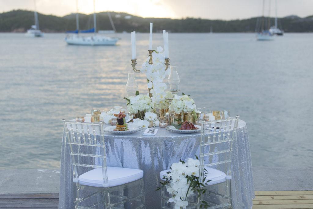 St Thomas Styled Shoot Wedding Reception Set Up