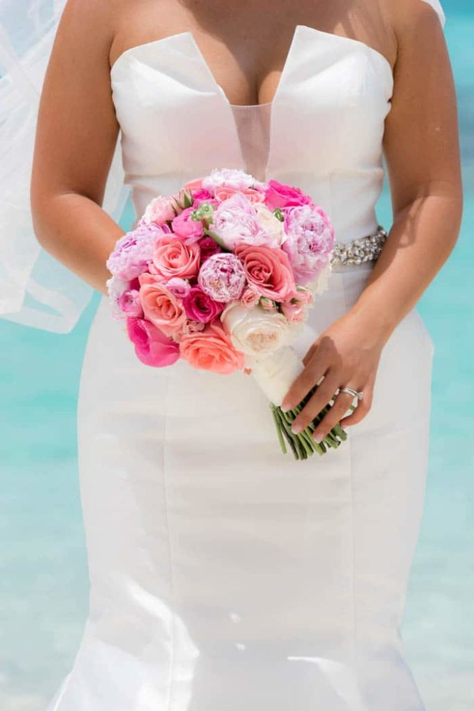 Bride with Pink Bouquet