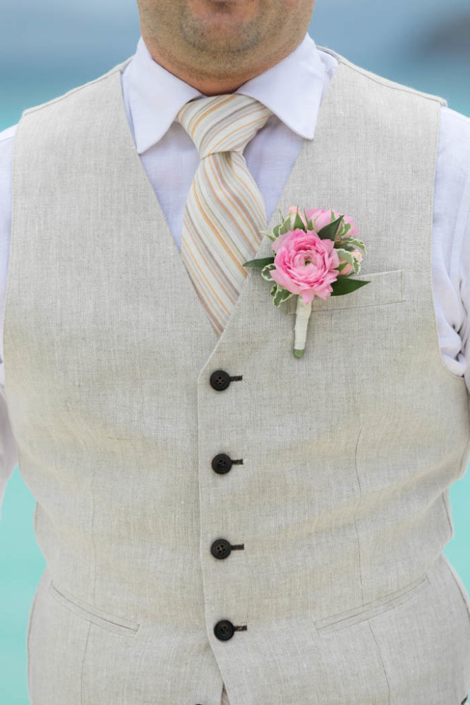 Groom's Pink Boutonniere