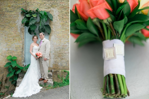 Jewish wedding in st thomas flowers and portrait collage