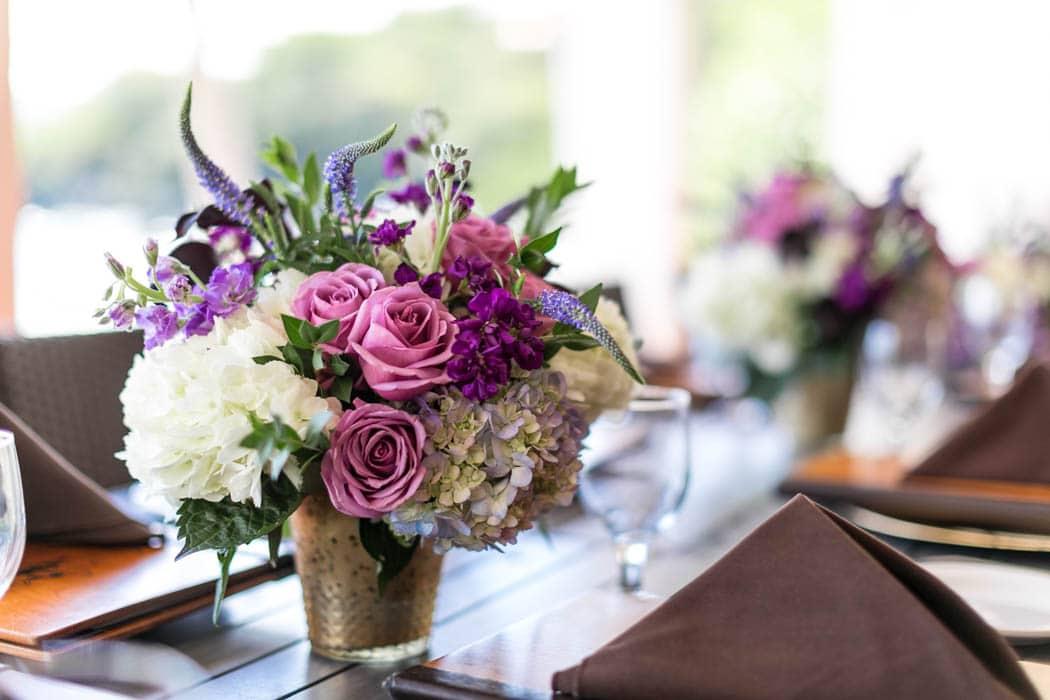 Purple Centerpiece Details