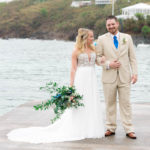 Gorgeous Couple at Secret Harbour | St. Thomas Wedding