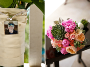 Honoring lost loved ones with a charm on your bouquet