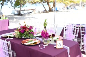 St Thomas Wedding Reception Sweetheart table